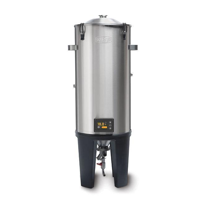 Grainfather Conical Fermenter with Dual Valve and wireless controller.