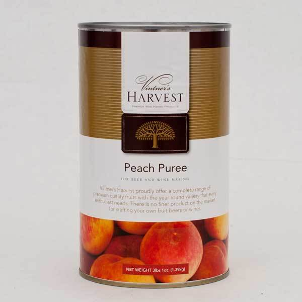 Vintner's Harvest Peach Puree in its 3-pound can