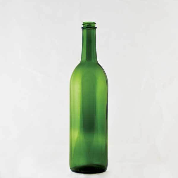 750 milliliter Green Claret bottle with a screw finish