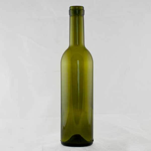 A green 375 ml Semi-Bordeaux bottle with a small punt