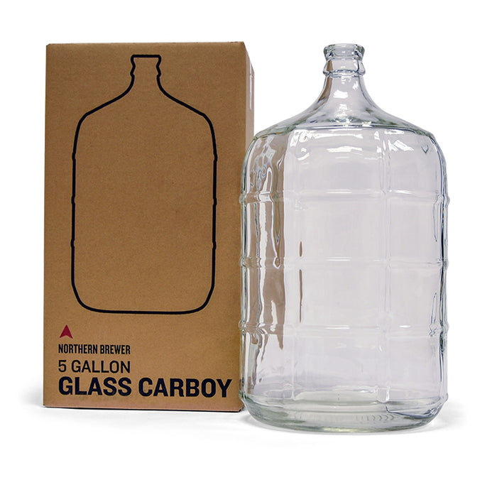 5 Gallon Glass Carboy for Making Beer & Wine - Northern Brewer - With Box