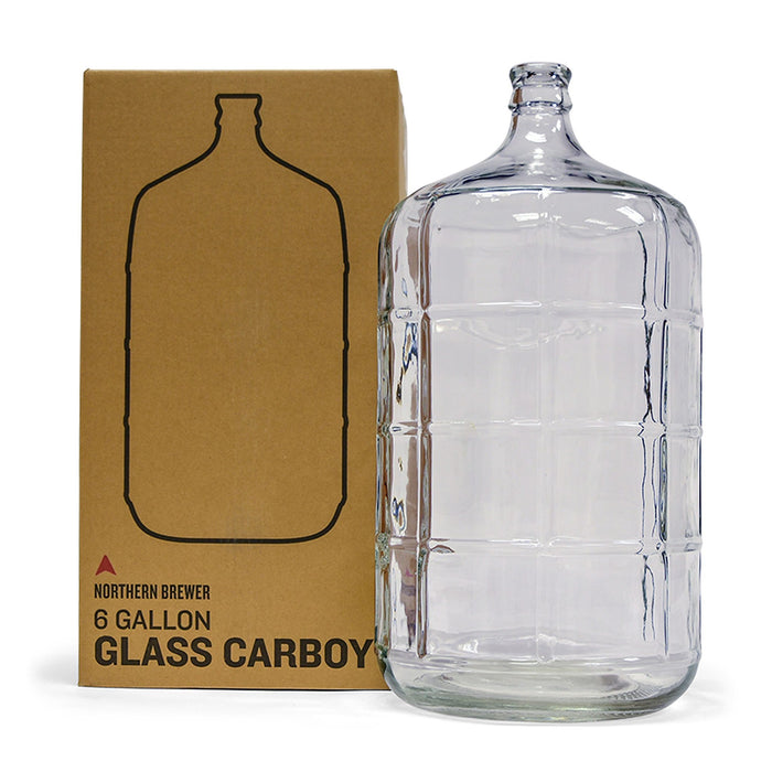 6 Gallon Glass Carboy Fermenter with Shipping Container