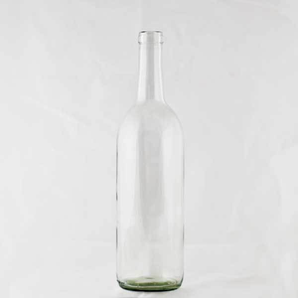 750 milliliter Clear Claret bottle
