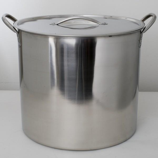 5 gallon stainless steel brew kettle.