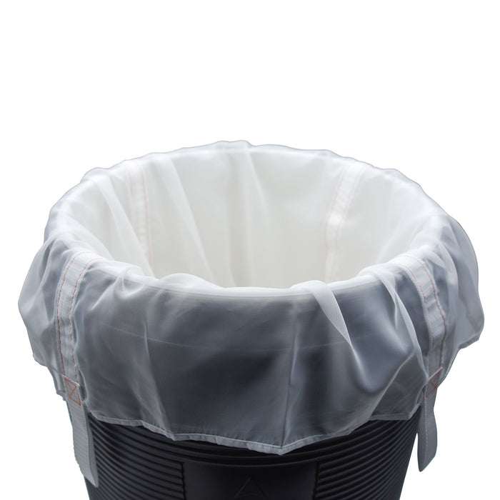 The reusable Brew Bag set in a mash tun