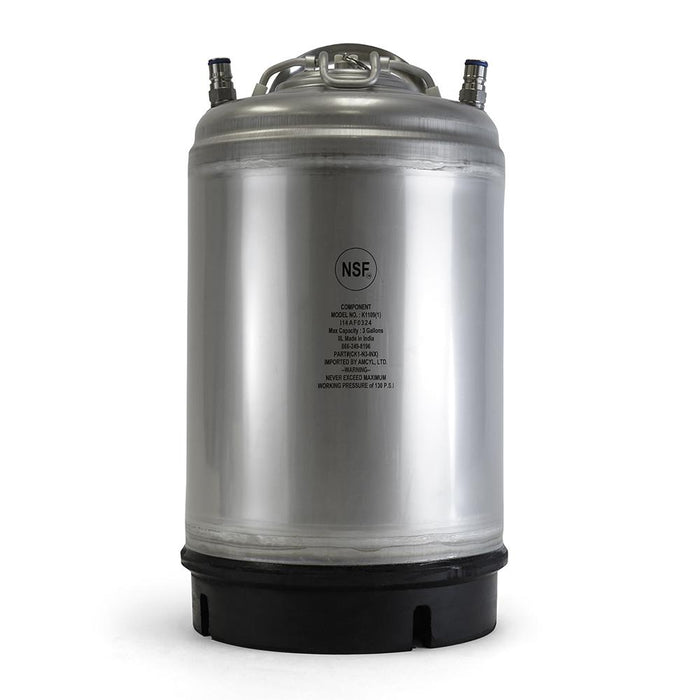 Draft Brewer® New 3 Gallon Ball Lock Soda Keg