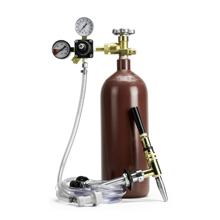 Nitrogen Draft System w/ Brass Stout Faucet - Ball Lock Keg