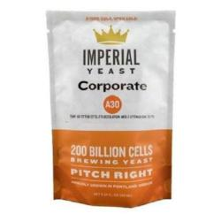 Front-view of the Imperial Yeast A30 Corporate pouch