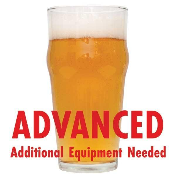 "Kama Citra Session homebrew in a glass with an All-Grain caution in red text: ""Advanced, additional equipment needed"""