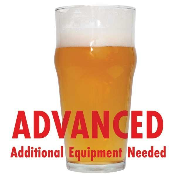 "Azacca Single-Hop Pale Ale homebrew in a glass with an All Grain warning: ""Advanced, additional equipment required"""