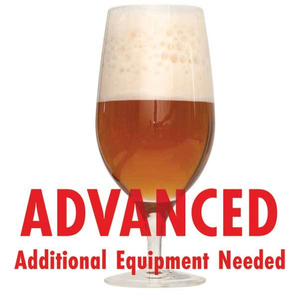 "Dawson's Kriek homebrew with an All-Grain warning: ""Advanced, additional equipment needed"""