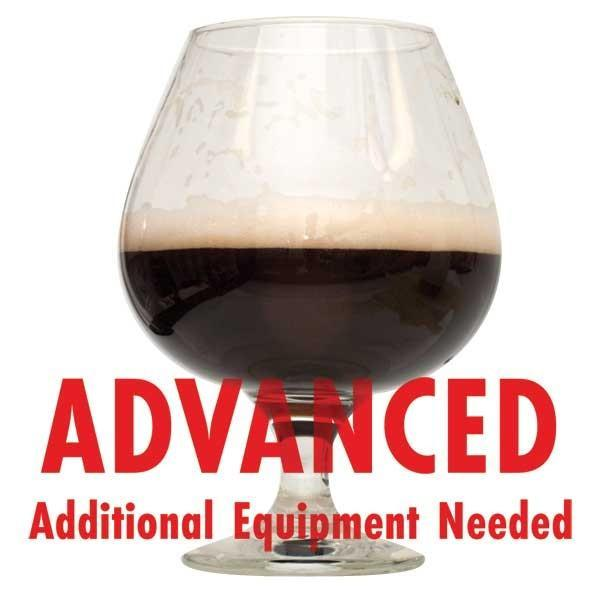 "Bourbon Barrel Porter homebrew with an All Grain warning: ""Advanced, additional equipment needed"""