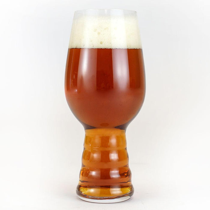 The Plinian Progeny homebrew in a glass