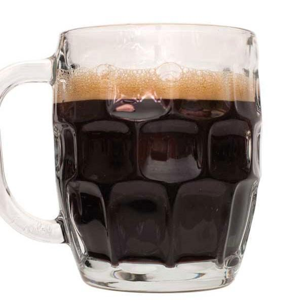 Rum Runner Stout homebrew in a short mug