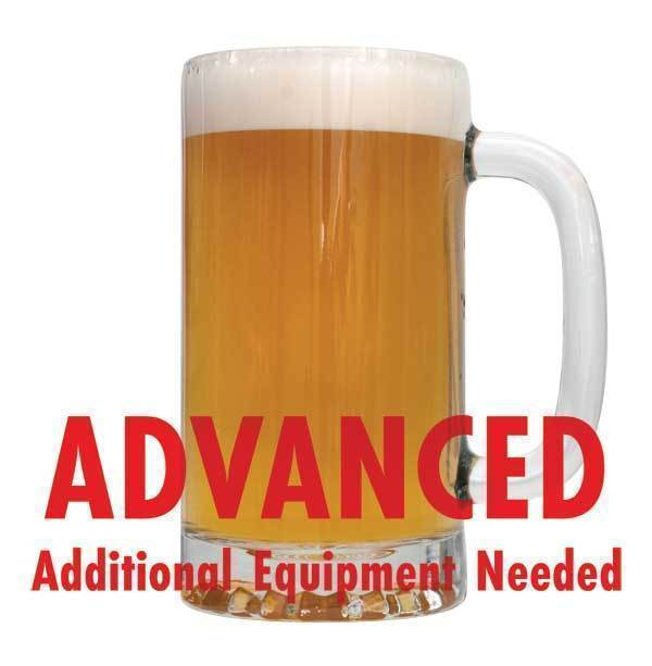 "Cashmere Blonde Ale homebrew with an All-Grain warning: ""Advanced, additional equipment needed"""