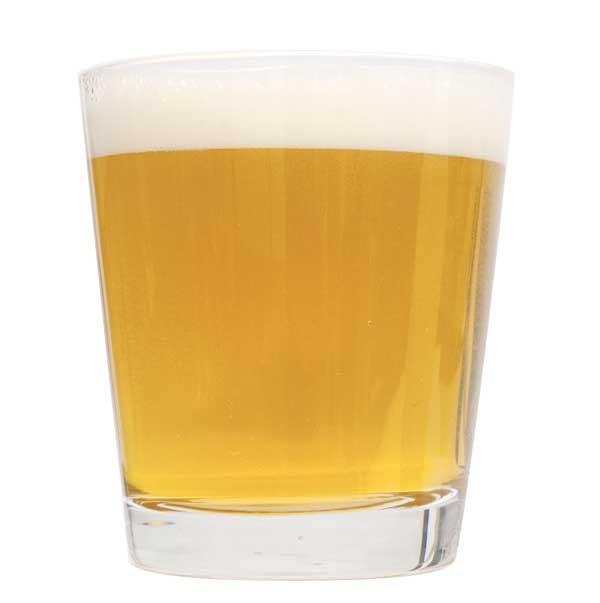 Cream ale in a short glass