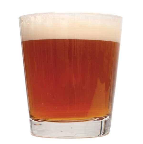 A short glass filled with Off the Topper IIPA