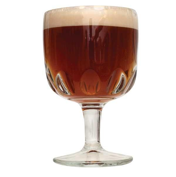 Belgian Dubbel homebrew in a glass