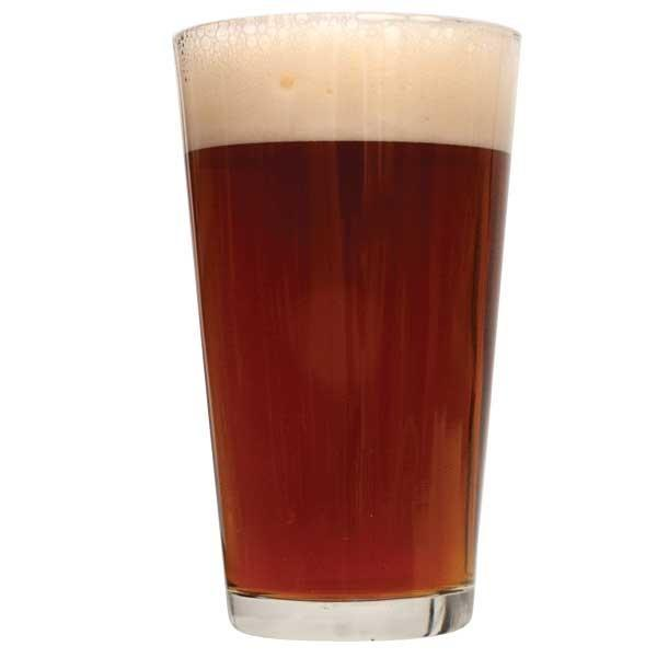 Glass filled with Nut Brown Ale