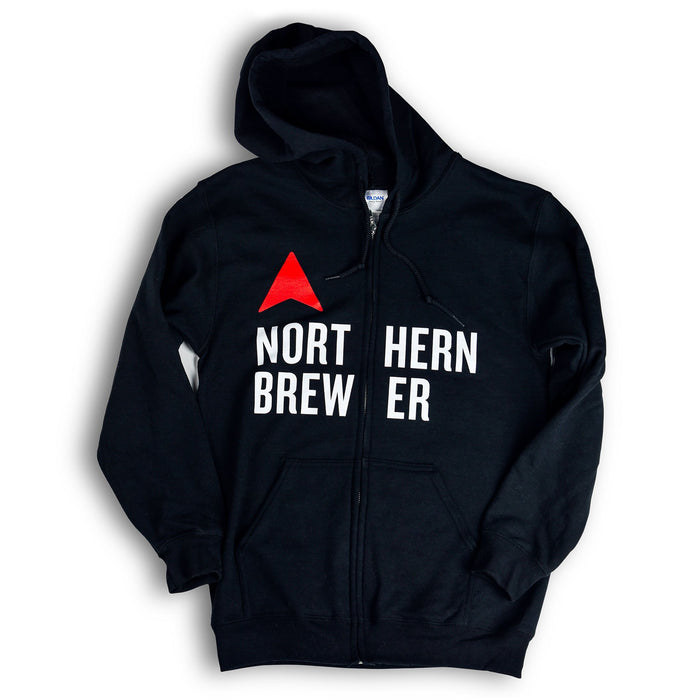 Northern Brewer Black Full Zip Hoodie