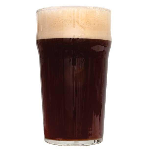 Black Magic Dark Mild homebrew in a glass