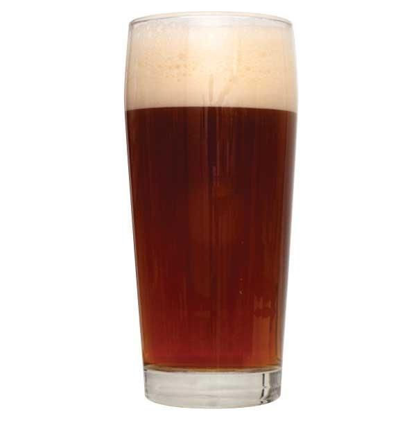 A glass of Private Rye Undercover Brown Ale homebrew