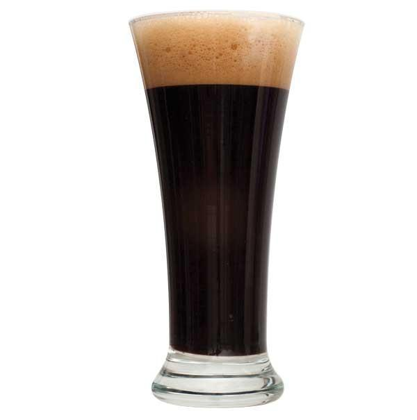 Black IPA homebrew in a glass