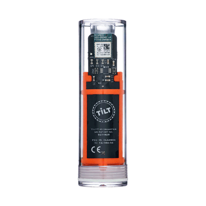 The orange Tilt Digital Hydrometer and Thermometer