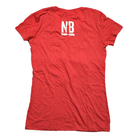 NB Woman's Red T-Shirt Back