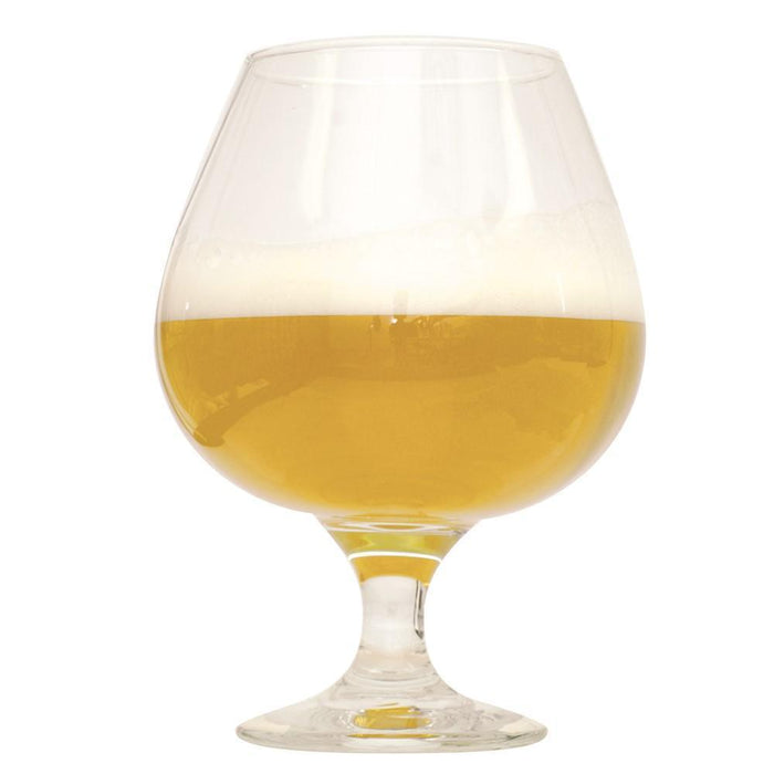 Hazy Eights Double NE IPA homebrew in a glass