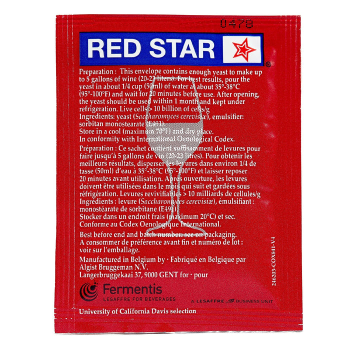 red star premier classique yeast back