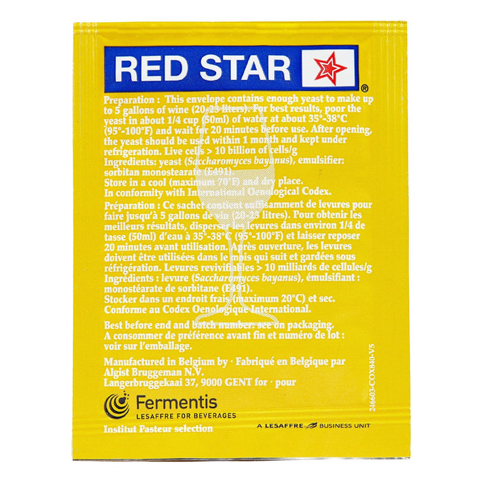 red star premier blanc yeast back