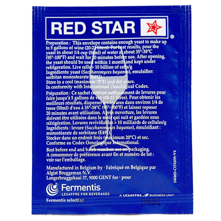 red star premier cuvee yeast back