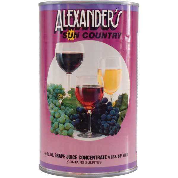 46 ounce can of Alexander Pinot Noir concentrate