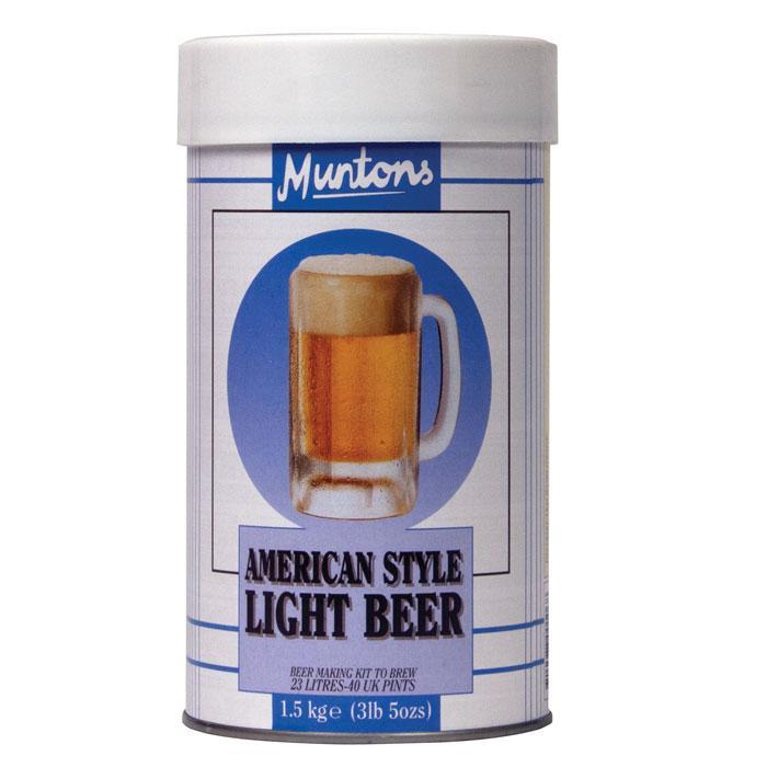 munton's american light style prehopped beer recipe can