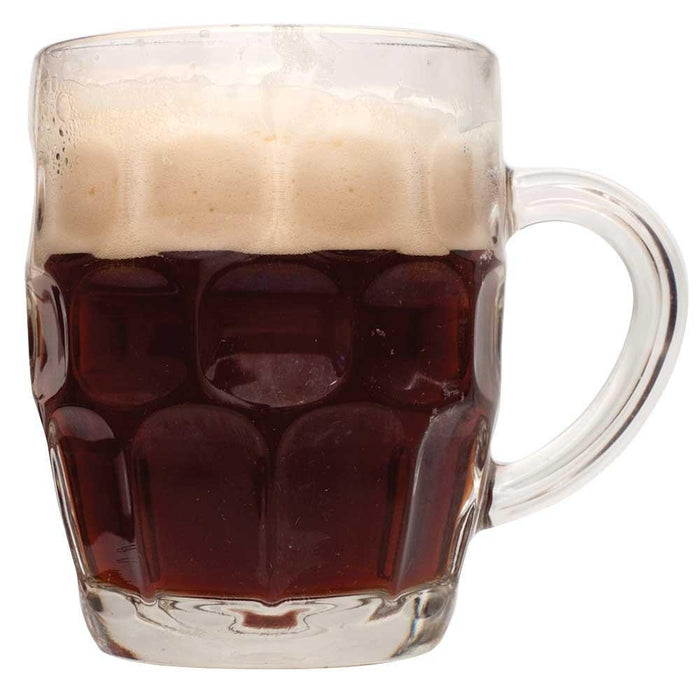 A mug filled with Winter Warmer ale