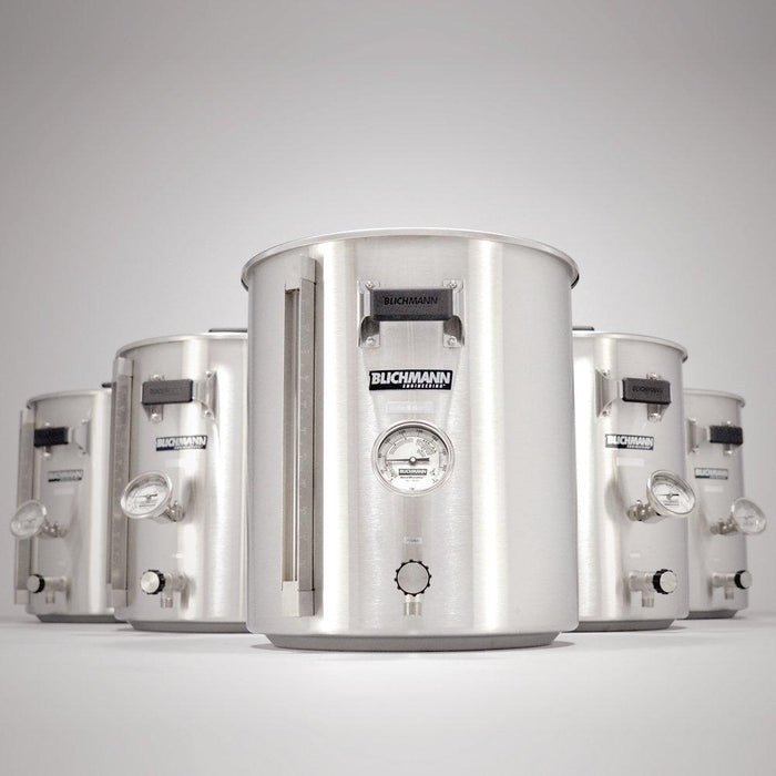 Blichmann Boilermaker G2 Brew Kettle standing heroically in front of other similar kettles