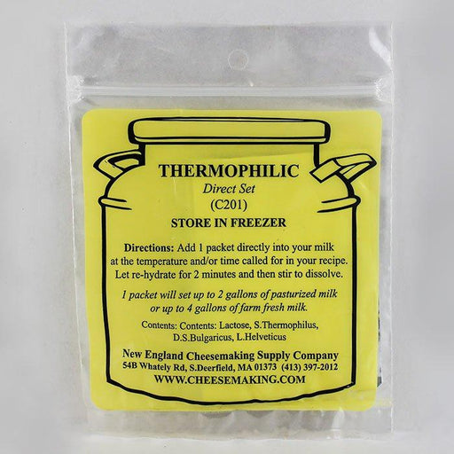 Direct-Set Thermophilic Cheesemaking Starter Culture C201 - 5 Packets