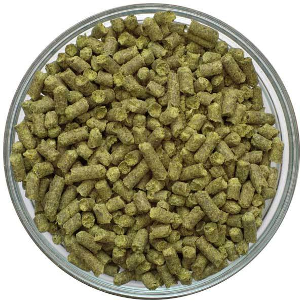 Crystal Hop Pellets in a bowl
