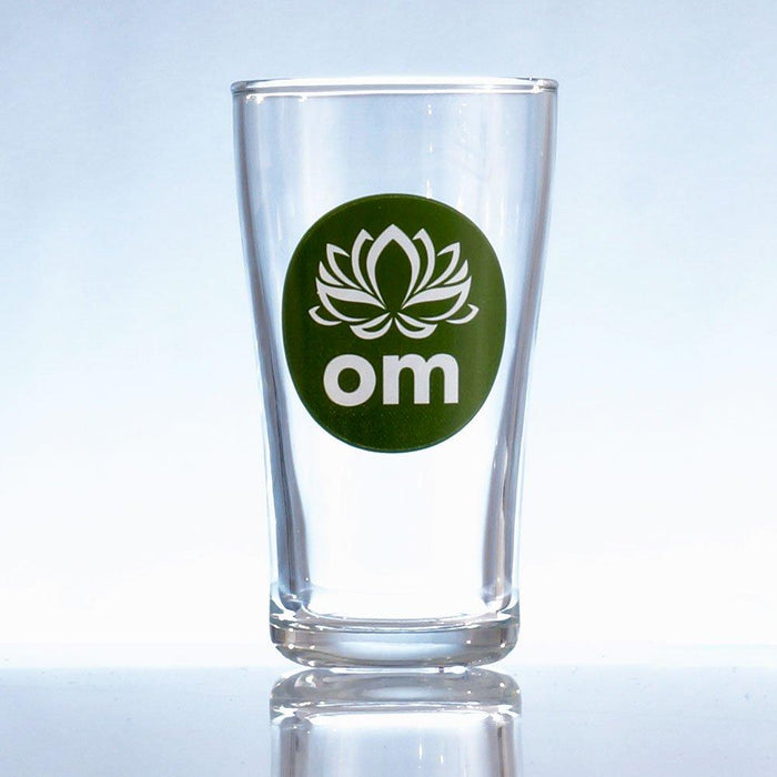 Everbru Kombucha drinking glass with logo