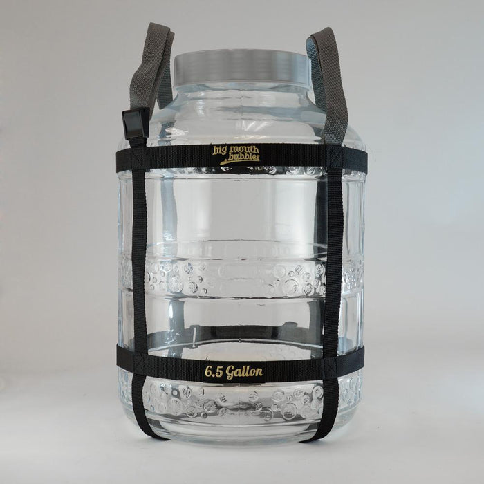 6.5 Gal. EVO 2 Glass Big Mouth Bubbler® with Harness in place