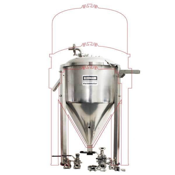 Blichmann Fermenator Conical Fermentor with Tri-Clamp Fittings