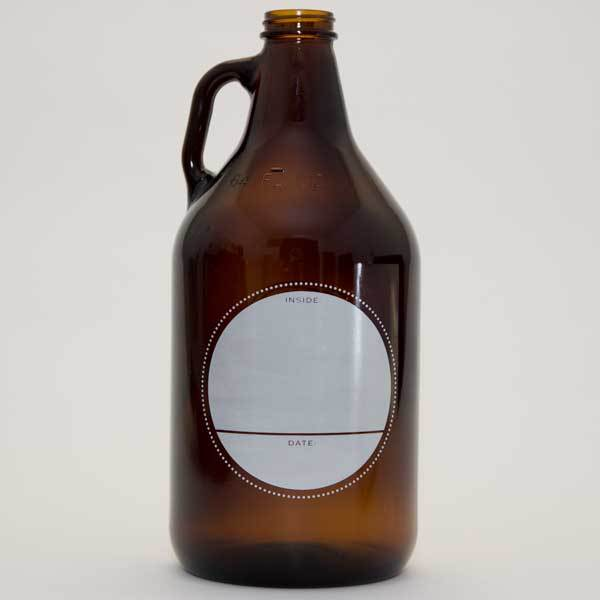Gold Crest Growler with Cap (back)