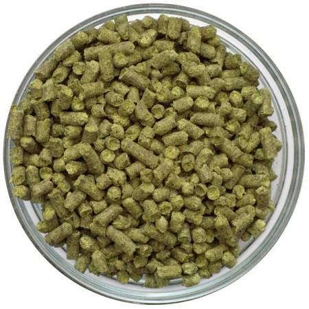 Display bowl filled with Sabro Hop Pellets