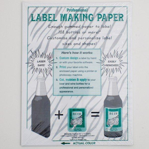 White Label Making Paper's use instructions