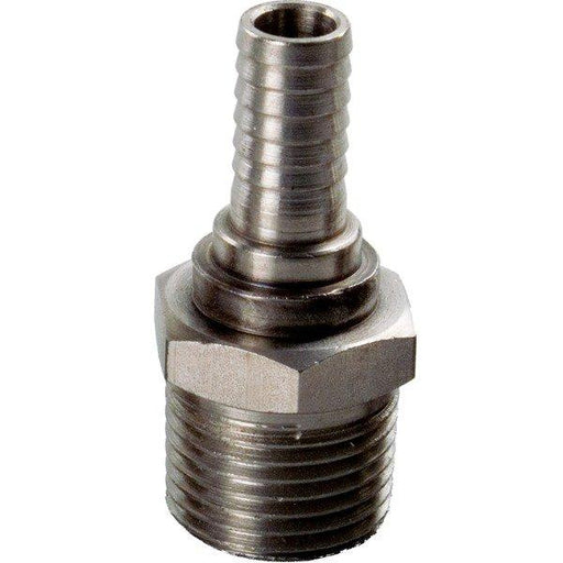 "Male Stainless 1/2"" NPT x 3/8"" Barb"