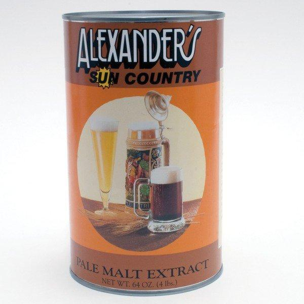 4 pound can of Alexander Pale Malt Syrup