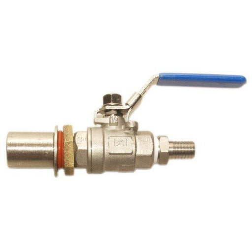 Stainless Steel Kettle Valve Kit with Barb