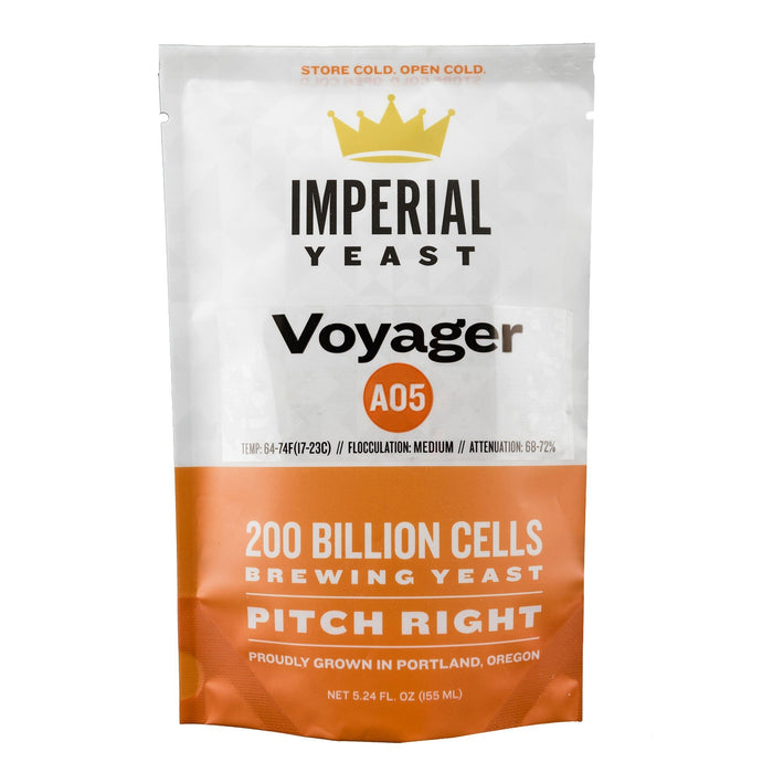 Imperial Liquid Yeast A05 Voyager in its packaging