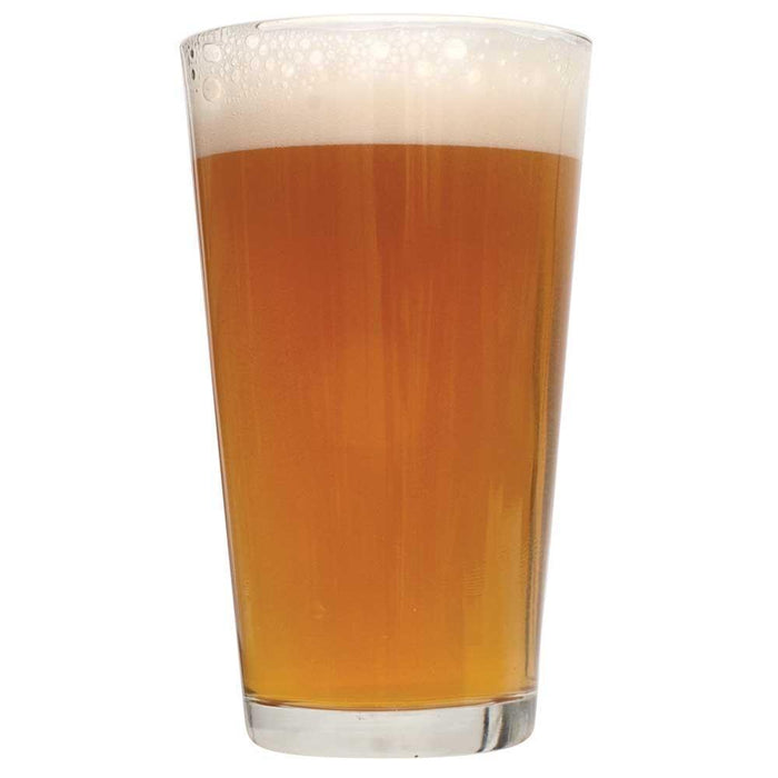 Tangerine Ravine pale ale homebrew in a glass
